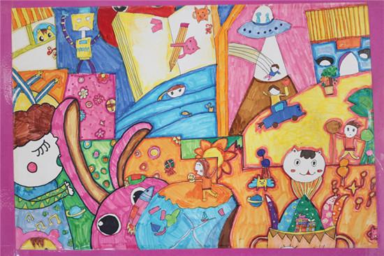 2018专题 淄博柳泉艺术学校 艺术    手绘童心展则以儿童画,素描,综合