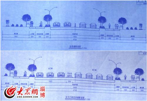 淄博两条主干道将改造慢行问题添拓宽一体道面试设计ui问的中常主路图片